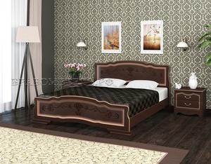 """Кровать """"Карина-6"""" орех темный"""